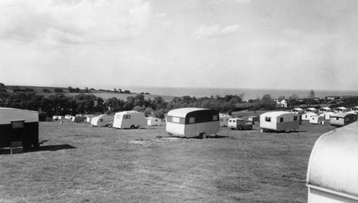 Eastchurch caravans in the 1950s